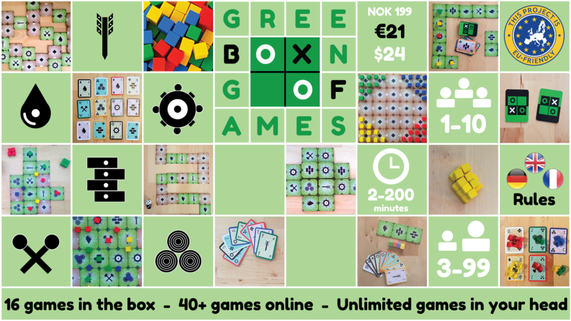 Green Box of Games by Neste Trekk