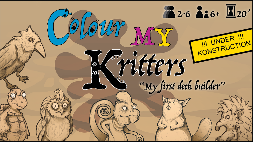 Click to get a reminder 4 August 2020 when Colour MY Kritters by Simplicatus Games launches on Kickstarter!